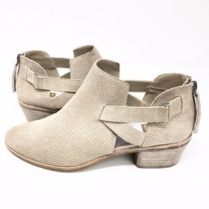 Dolce Vita   Taupe Cutout Bootie Genuine Suede